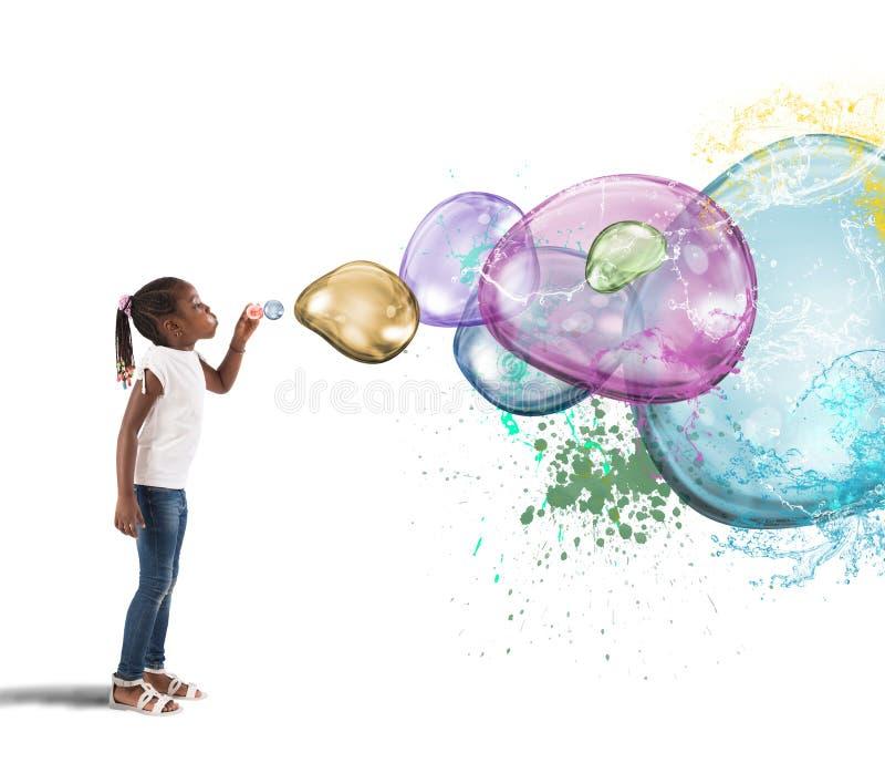 Красочный пузырь стоковые фото