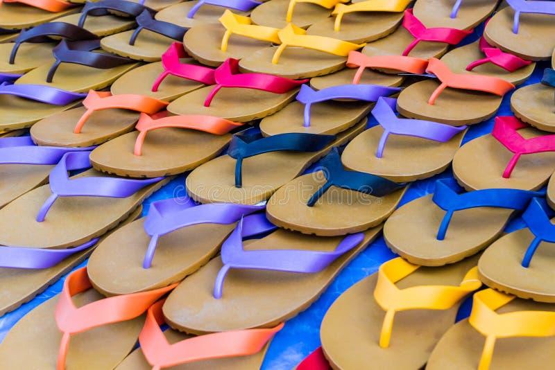 Красочный резиновых тапочек. стоковая фотография rf