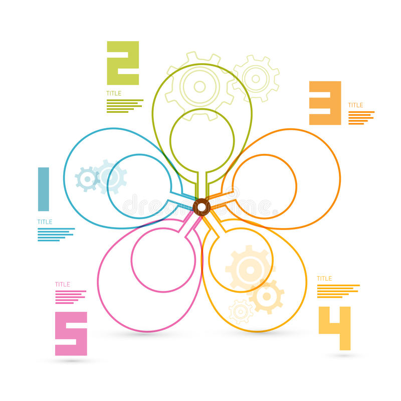 Красочный ретро план сети Infographics иллюстрация вектора