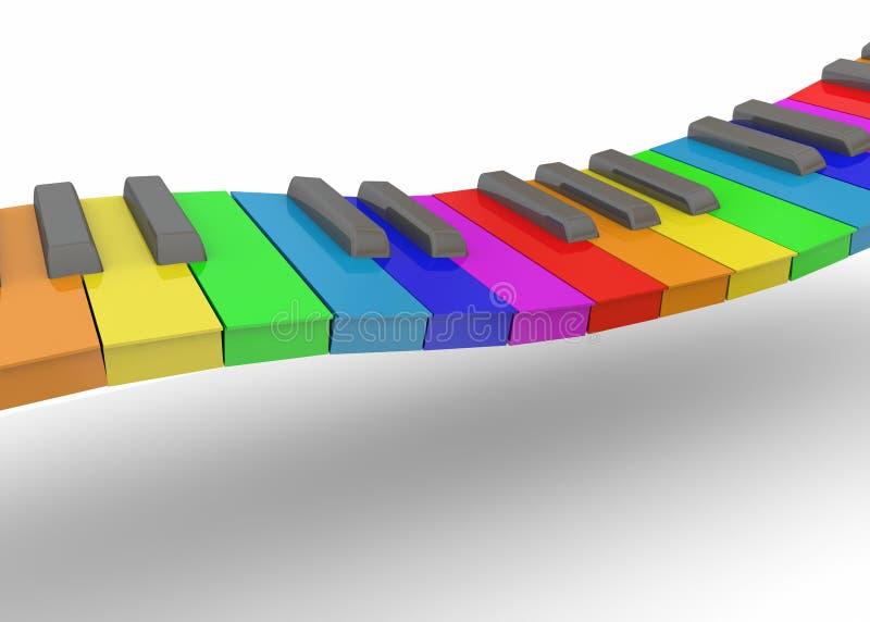 Красочный рояль - 3D иллюстрация вектора