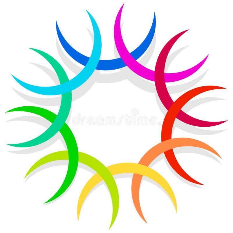 Download Красочный спирально конструируйте элемент, мотив конспекта геометрический, Symb Иллюстрация вектора - иллюстрации насчитывающей helix, декор: 81812894