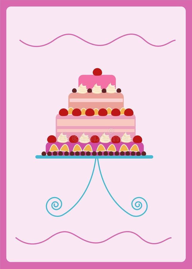 Красочный сладостный торт стоковые изображения rf