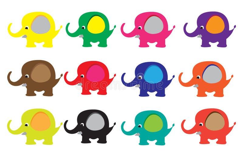 Красочный слон иллюстрация вектора