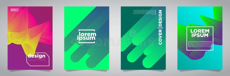 Красочный футуристический минималистский дизайн крышек Иллюстрация вектора EPS10 бесплатная иллюстрация