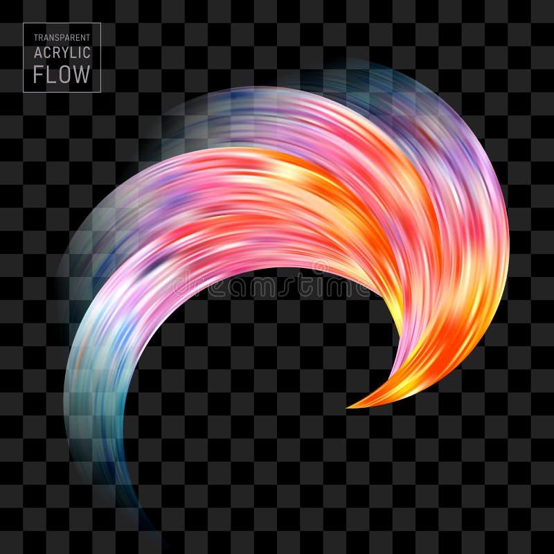 Красочный ход щетки подачи на черной предпосылке иллюстрация вектора