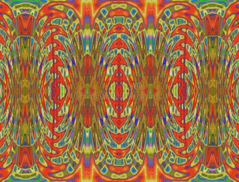 Красочный художественный дизайн на мешковине бесплатная иллюстрация