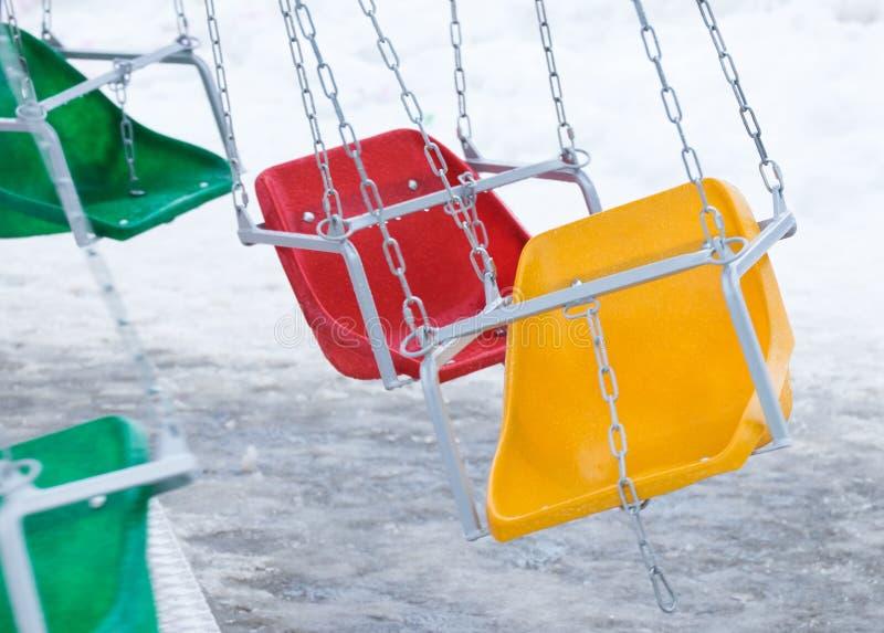 Красочный цепной carousel стоковые фото