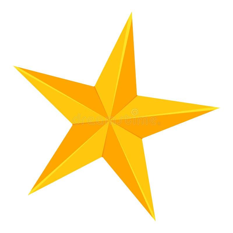 Красочный шарж звезда 5 пунктов золотая иллюстрация штока