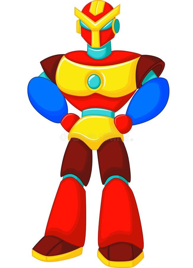 Красочный шарж робота иллюстрация вектора
