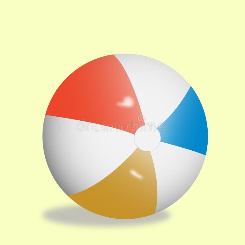 Красочный шарик 3D игрушки ` s детей иллюстрация вектора