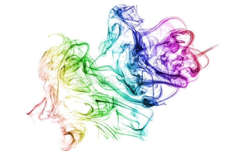 Красочный дым. стоковые изображения rf