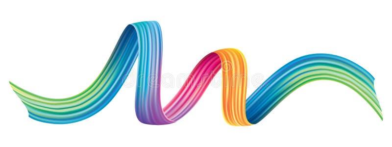 Красочный элемент дизайна brushstroke бесплатная иллюстрация