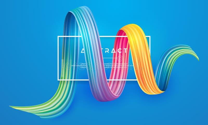 Красочный элемент дизайна brushstroke иллюстрация вектора