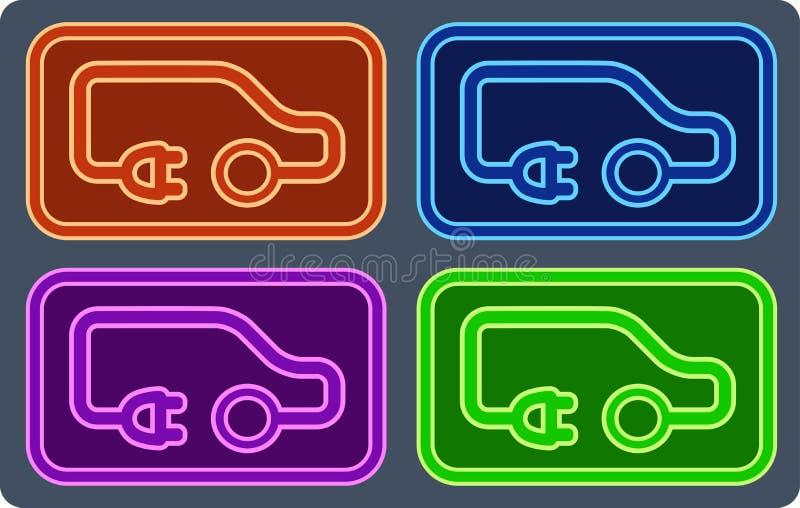 Красочный электрический комплект корабля бесплатная иллюстрация