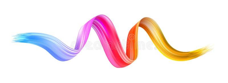 Красочный brushstroke подачи Линия изолированная лентой иллюстрация штока