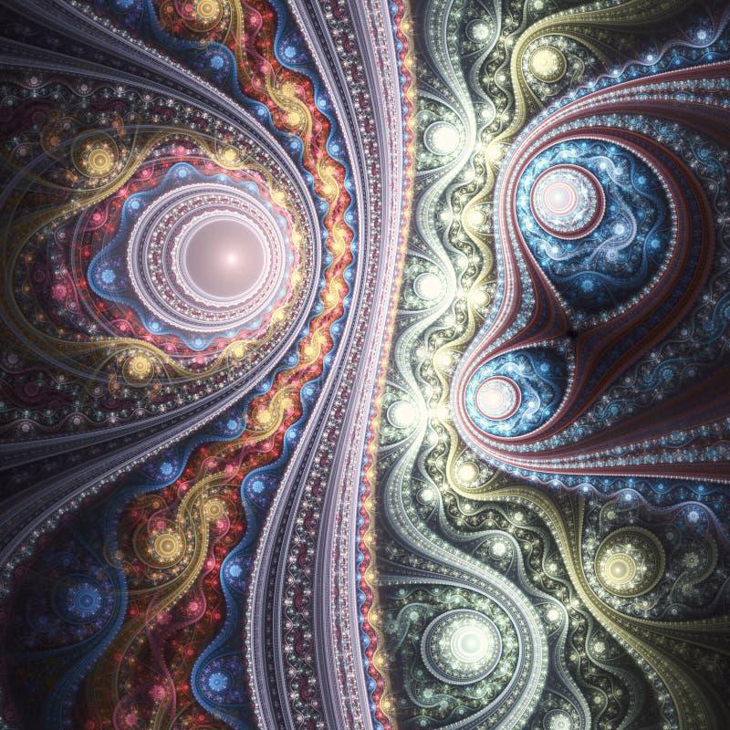 Красочный clockwork фрактали иллюстрация вектора
