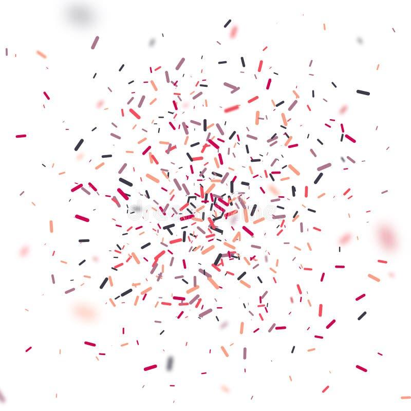 Красочный confetti падая случайно Абстрактная предпосылка с частицами взрыва Иллюстрацию вектора можно использовать для приветств бесплатная иллюстрация