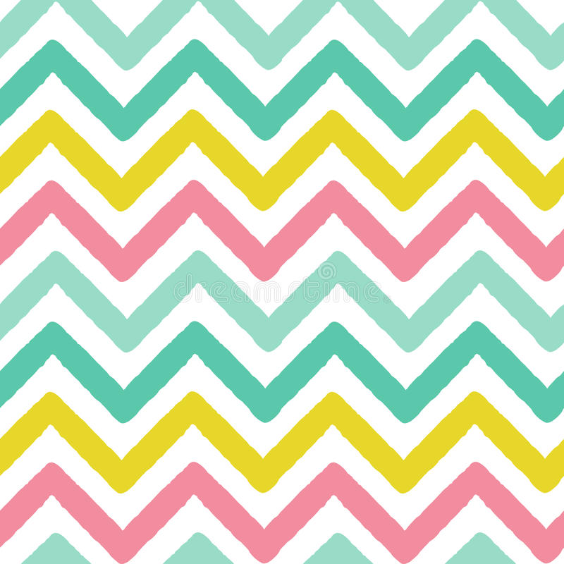 Красочный grunge зигзага stripes безшовная иллюстрация предпосылки картины вектора иллюстрация вектора