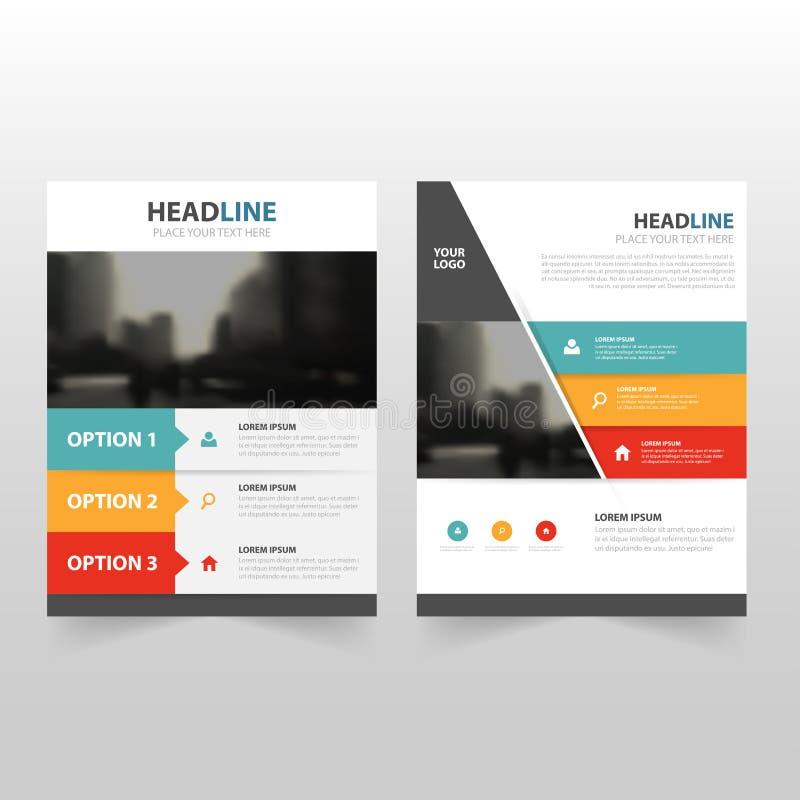 Красочный infographic дизайн шаблона рогульки брошюры листовки годового отчета вектора, дизайн плана обложки книги иллюстрация штока