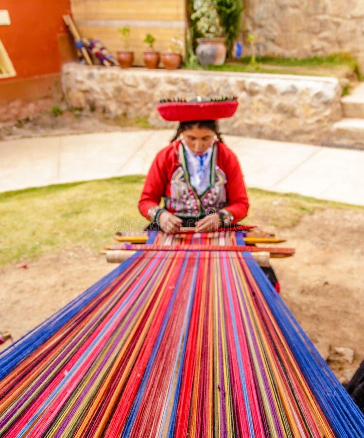 Красочный, lavoration шерстей альпаки handmade, Перу стоковое фото rf