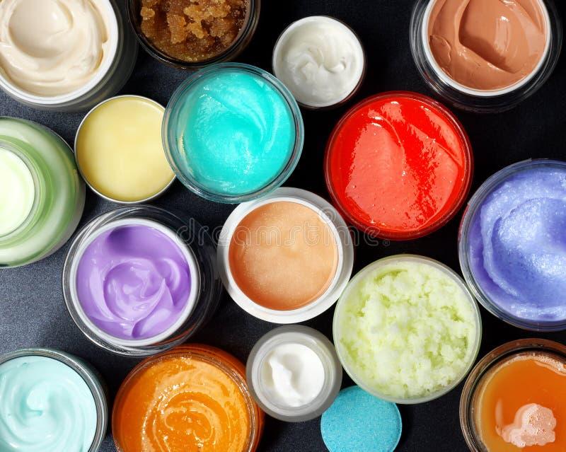 Красочный scrubs и creams стоковая фотография rf