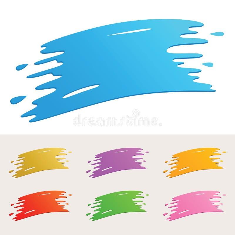 Красочный Splatter краски иллюстрация вектора