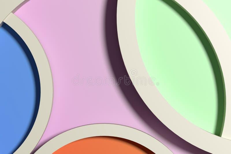 4 красочных обрамленных круга иллюстрация штока