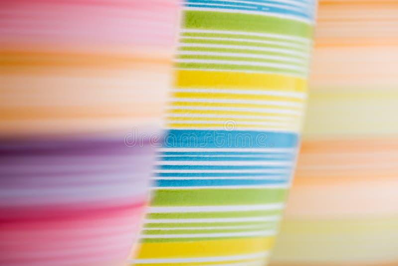 3 красочных цветочного горшка стоковые фотографии rf