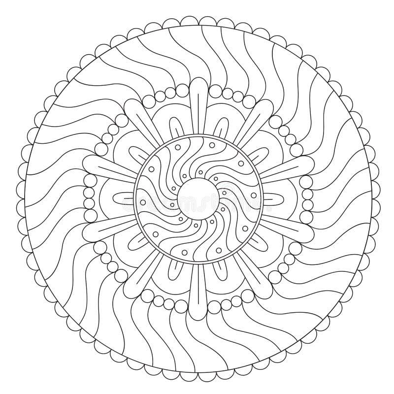 Крася геометрический орнамент волны иллюстрация вектора