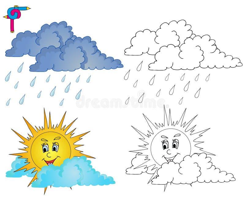 Крася погода 4 изображения иллюстрация вектора
