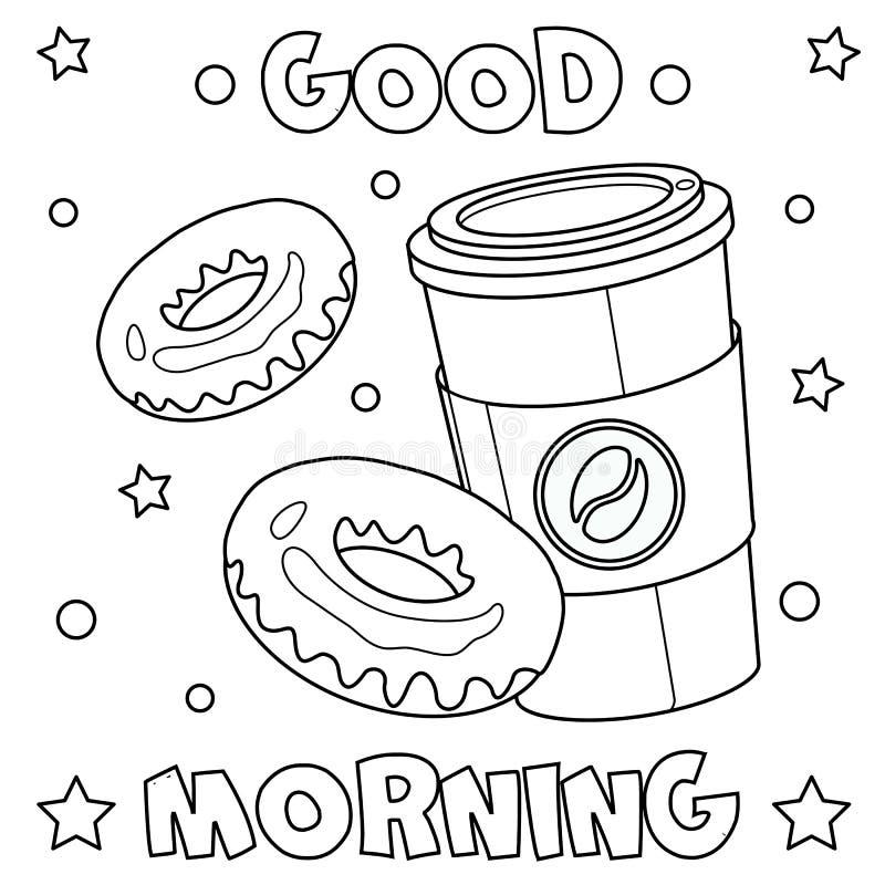 """Крася страница """"доброе утро """" бесплатная иллюстрация"""