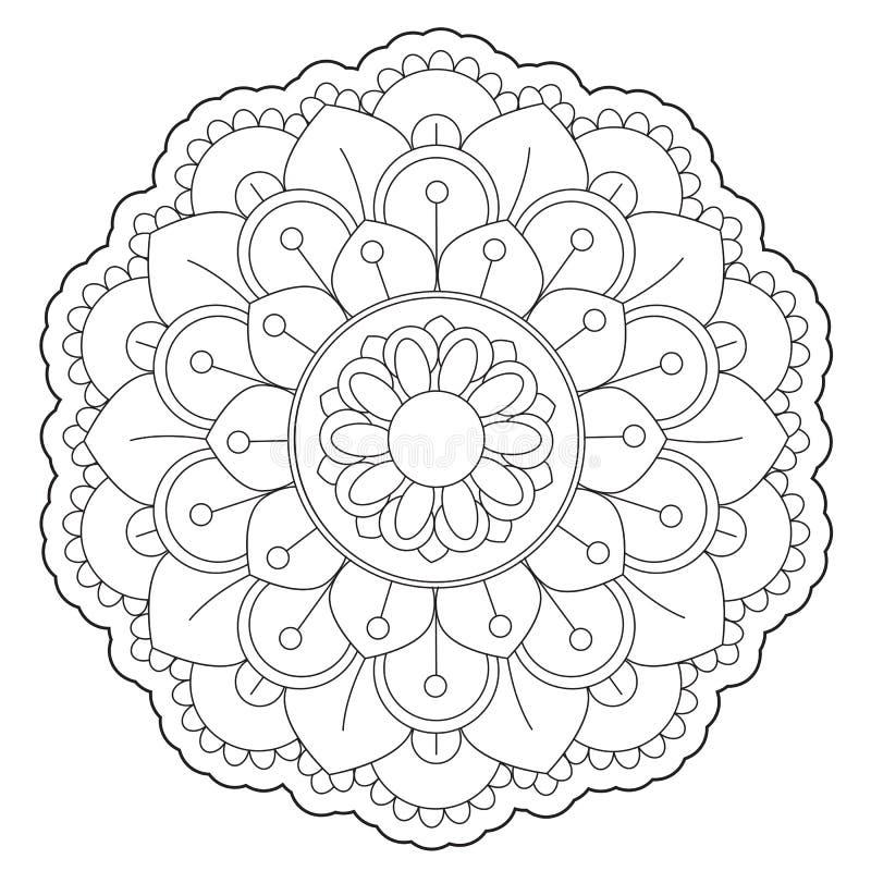 Крася флористический круглый орнамент иллюстрация штока