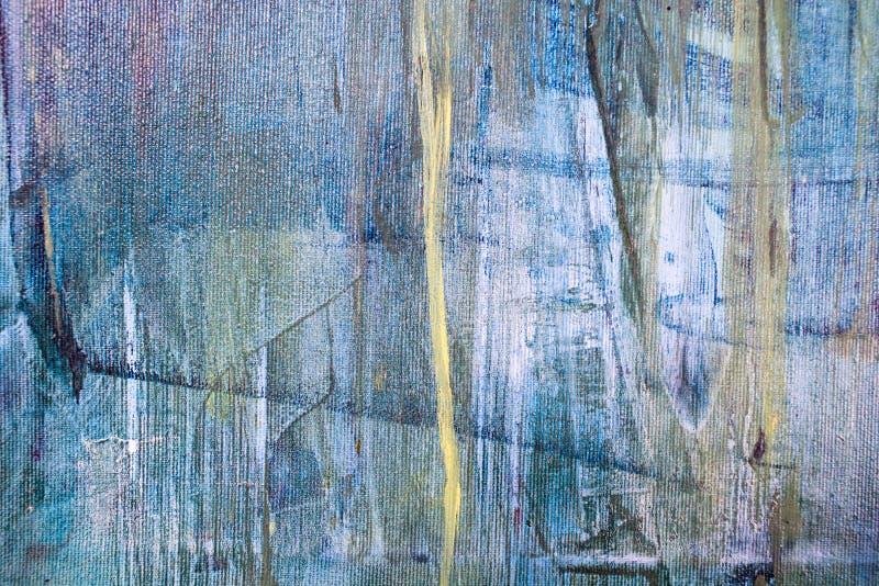 Крася художнические яркие краски масла цвета текстурируют абстрактное художественное произведение Современная футуристическая кар стоковое изображение rf