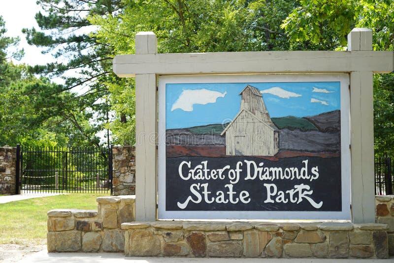 Кратер парка штата диамантов стоковые фотографии rf