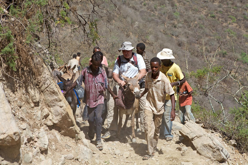 Турист на Sod Эфиопии El стоковое фото