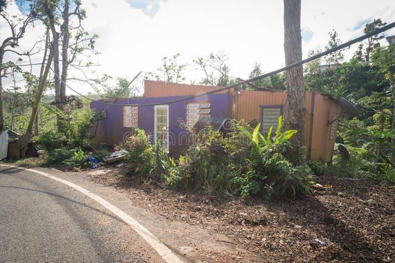 Крах урагана Марии стоковые изображения rf