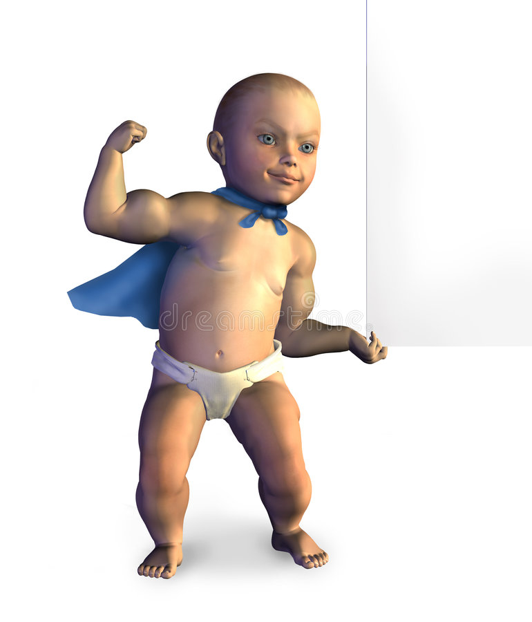края клиппирования младенца знак путя пустого поднимаясь супер иллюстрация штока