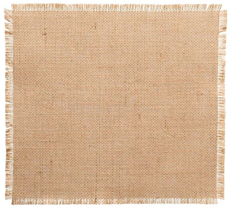 Края мешковины сорванные тканью, изолированная картина ткани мешка стоковая фотография rf