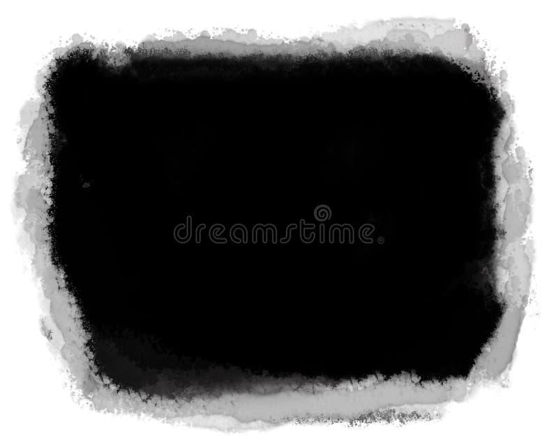 Края фото акварели белые для фото ландшафта иллюстрация вектора