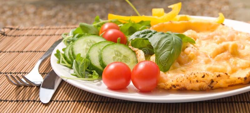 креветка omlette стоковое изображение rf