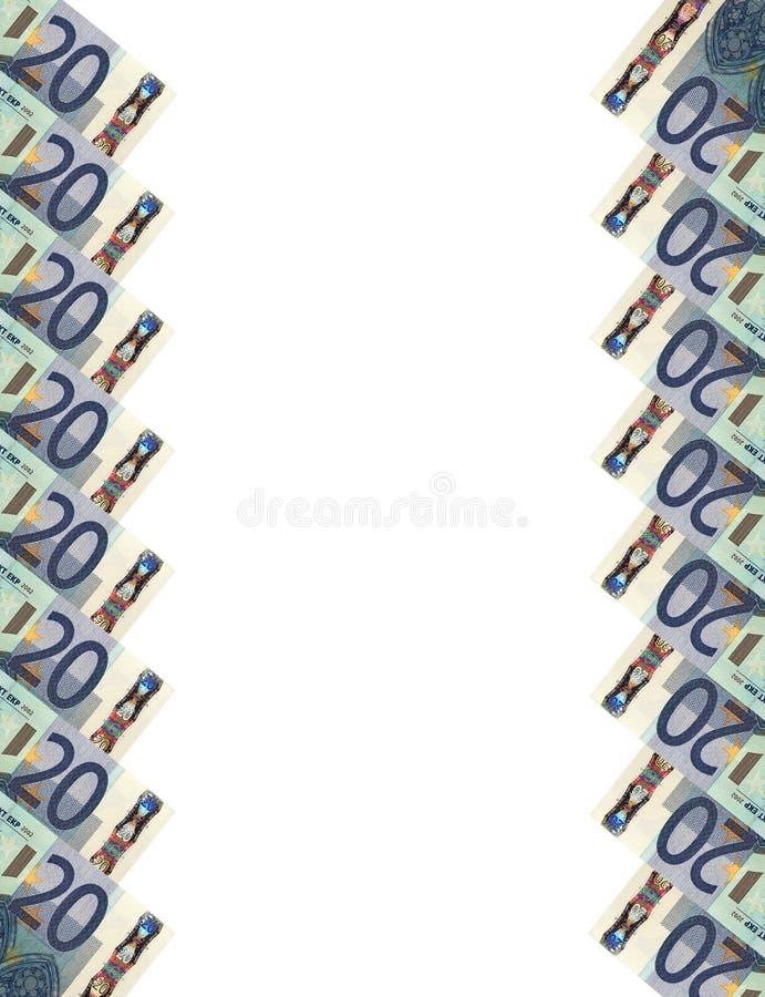 Кредитки евро. Вертикальное background.20. стоковое изображение