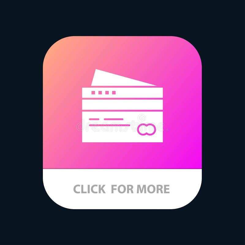 Кредитная карточка, банк, карта, карты, кредит, финансы, деньги, кнопка приложения покупок мобильная Андроид и глиф IOS версия бесплатная иллюстрация