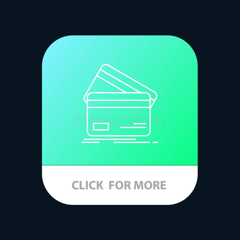 Кредитная карточка, дело, карты, кредитная карточка, финансы, деньги, кнопка приложения покупок мобильная Андроид и линия версия  бесплатная иллюстрация