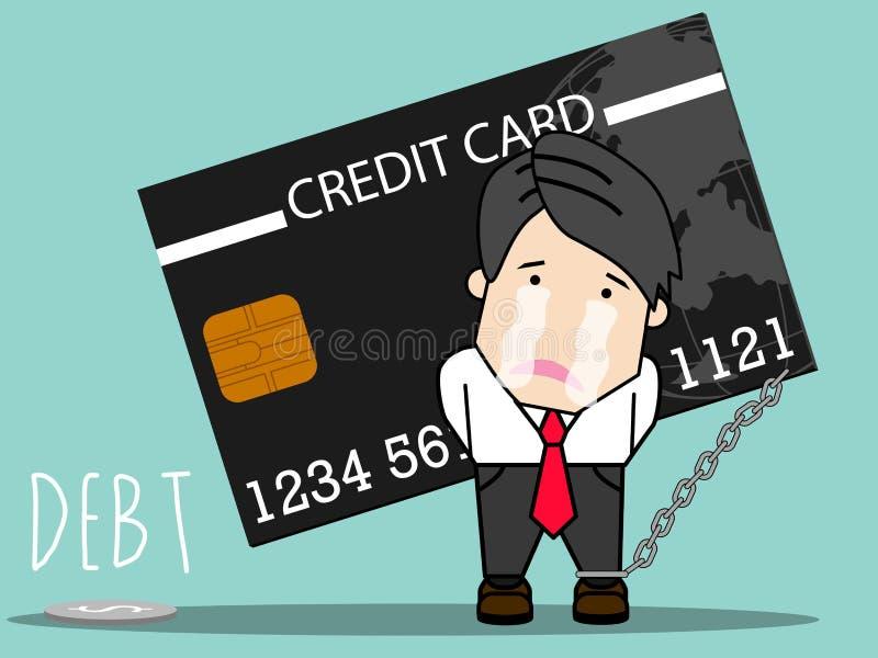 Кредитная карточка и дело иллюстрация штока