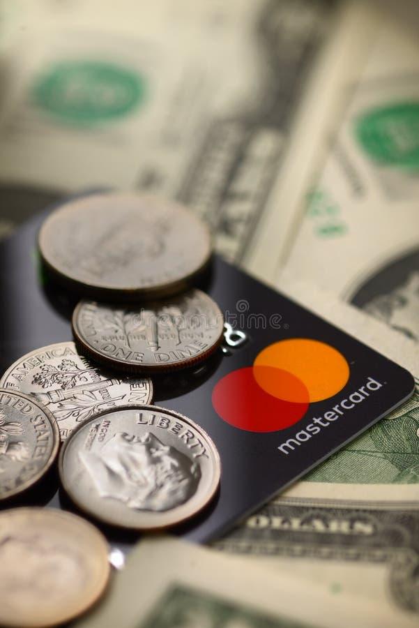 Кредитная карточка Mastercard стоковая фотография rf