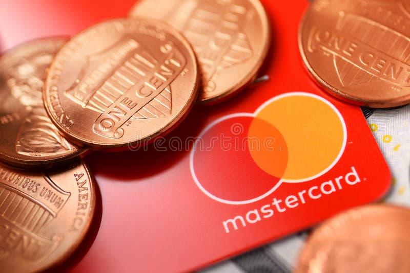 Кредитная карточка Mastercard стоковая фотография
