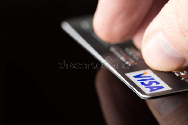 Кредитная карточка visa стоковые фотографии rf