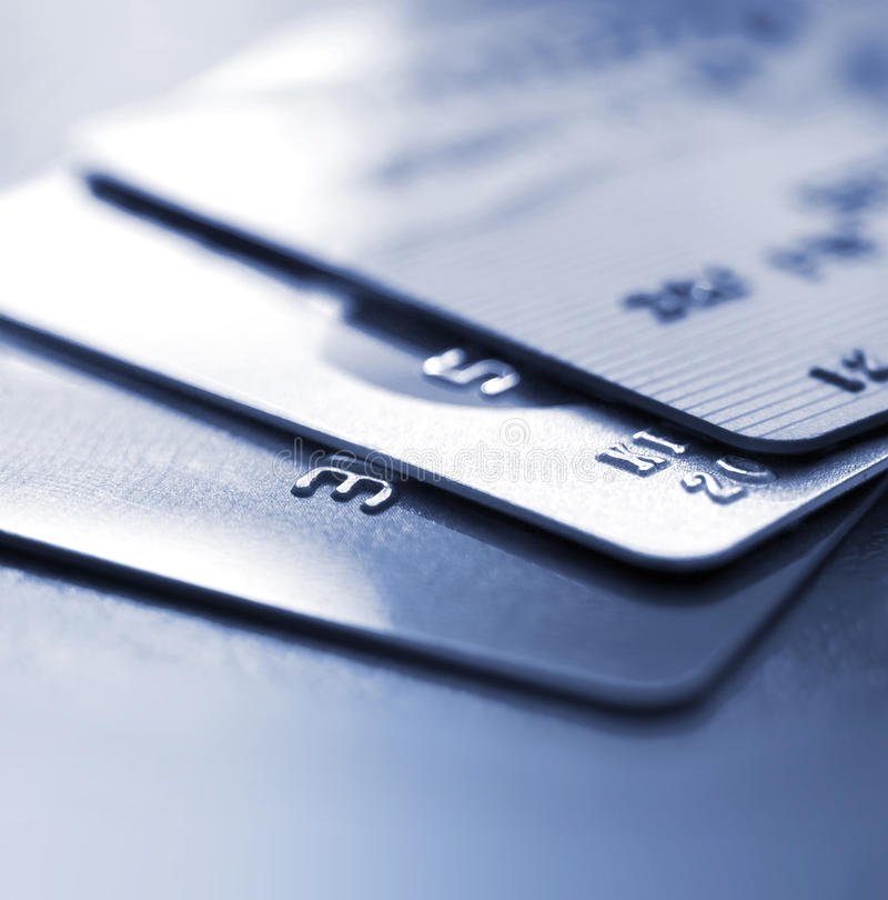 Кредитные карточки стоковое изображение