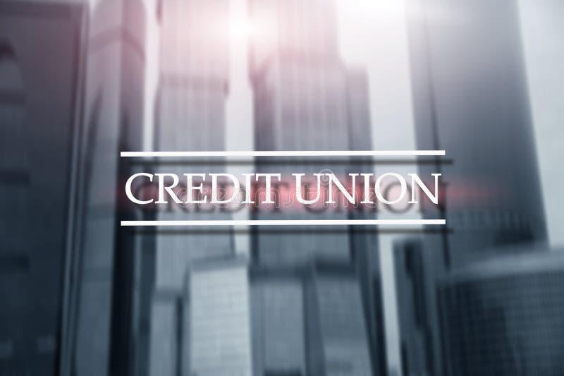 Кредитный союз Финансовые обслуживания кооперативных банков Предпосылка конспекта финансов бесплатная иллюстрация