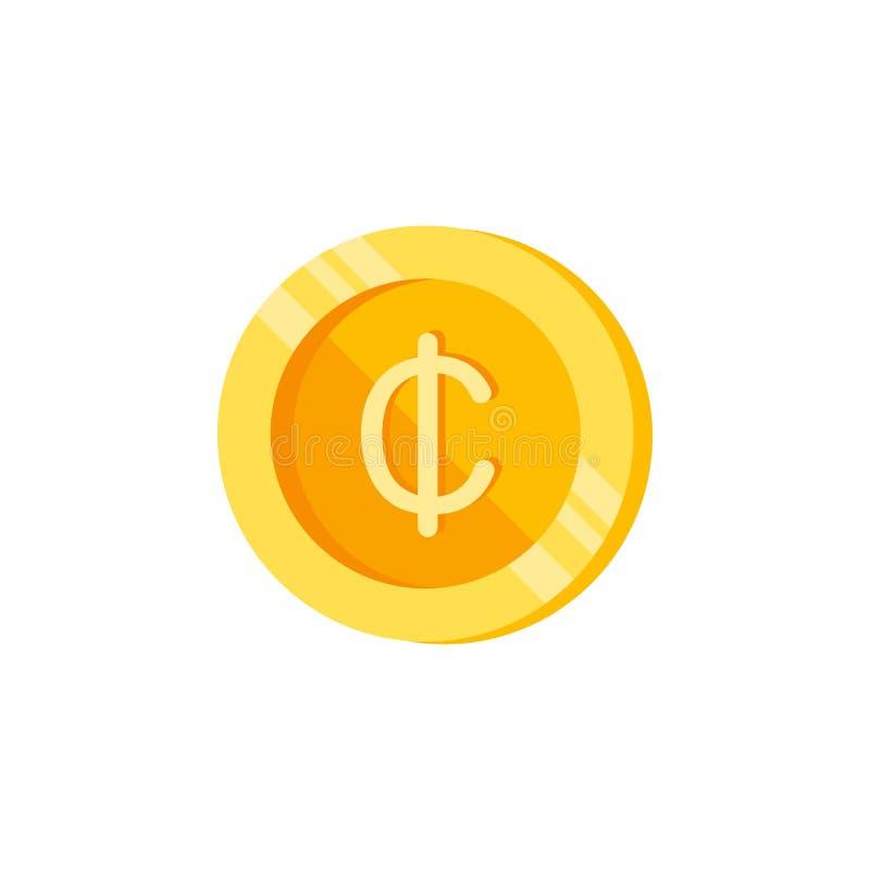 Кредиты, монетка, значок цвета денег Элемент знаков финансов цвета Наградной качественный значок графического дизайна знаки и соб иллюстрация штока